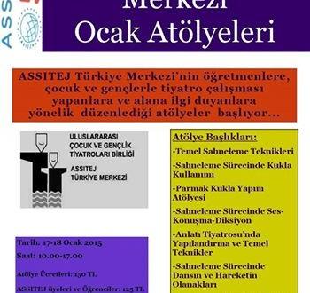 ASSITEJ Türkiye Merkezi Ocak Atölyeleri Başlıyor!!!