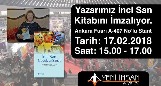 """Çağdaş Drama Derneği Onursal Başkanımız Prof. Dr. İnci San 12. Ankara Kitap Fuarında """"Çocuk ve Sanat"""" adlı kitabını imzalıyor!"""
