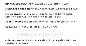 2. Konulu Atölye Günleri 18-19 Mayıs'ta Ankara'da. Son Kayıt 16 Mayıs 2019!